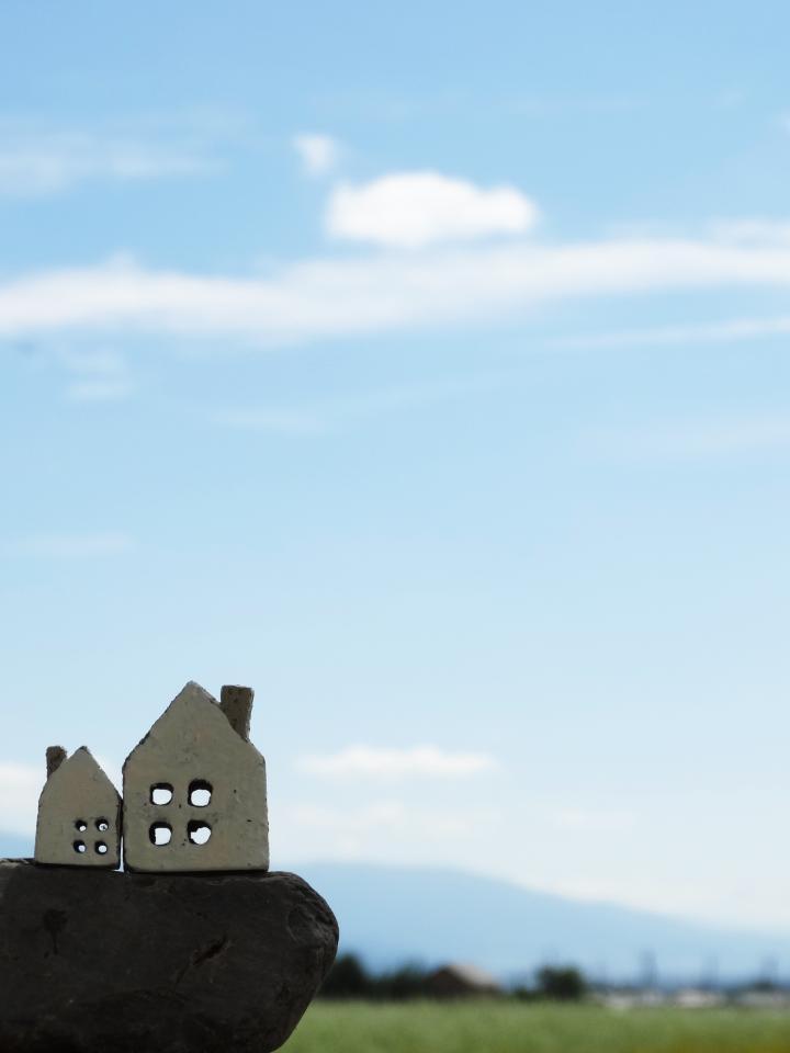 お家と平野